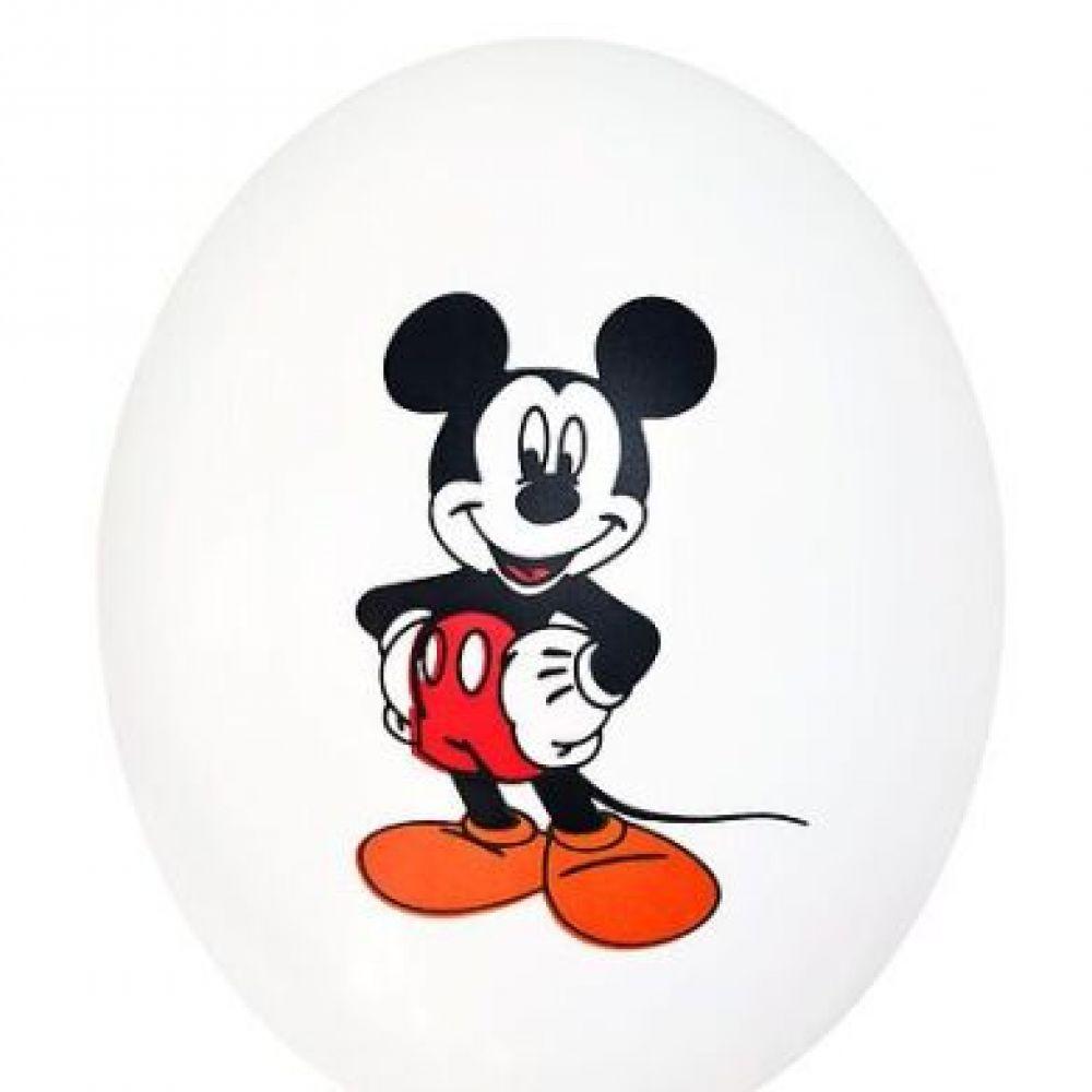 """Шар латексный с рисунком """"Микки Маус на белом"""""""