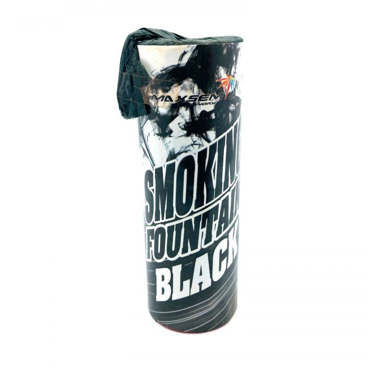Цветной дым Чёрный для фото