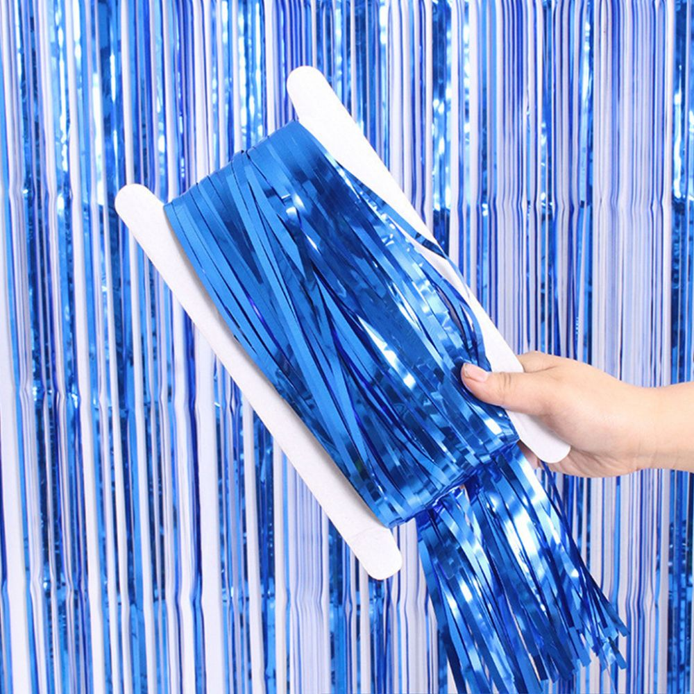 Штора для фотозоны синяя 1х2 м