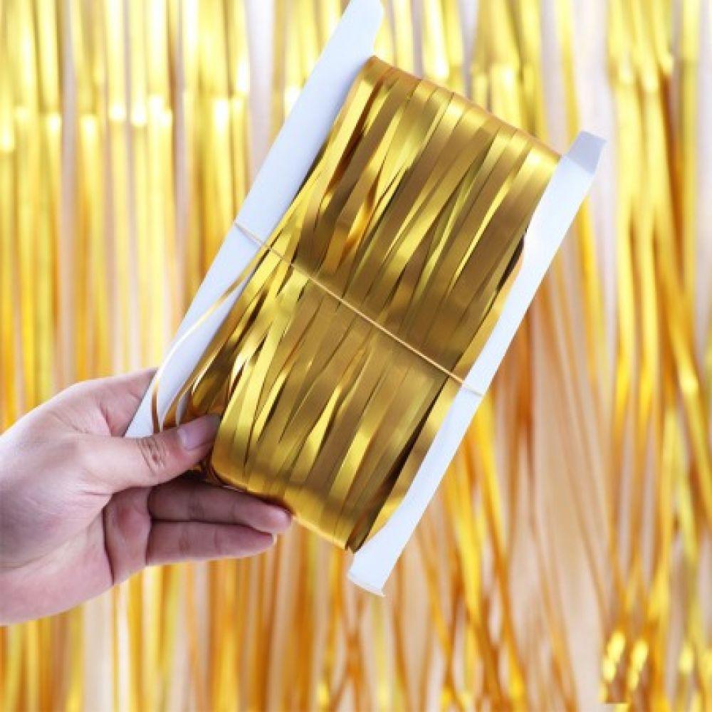 Штора для фотозоны золото 1х2 м