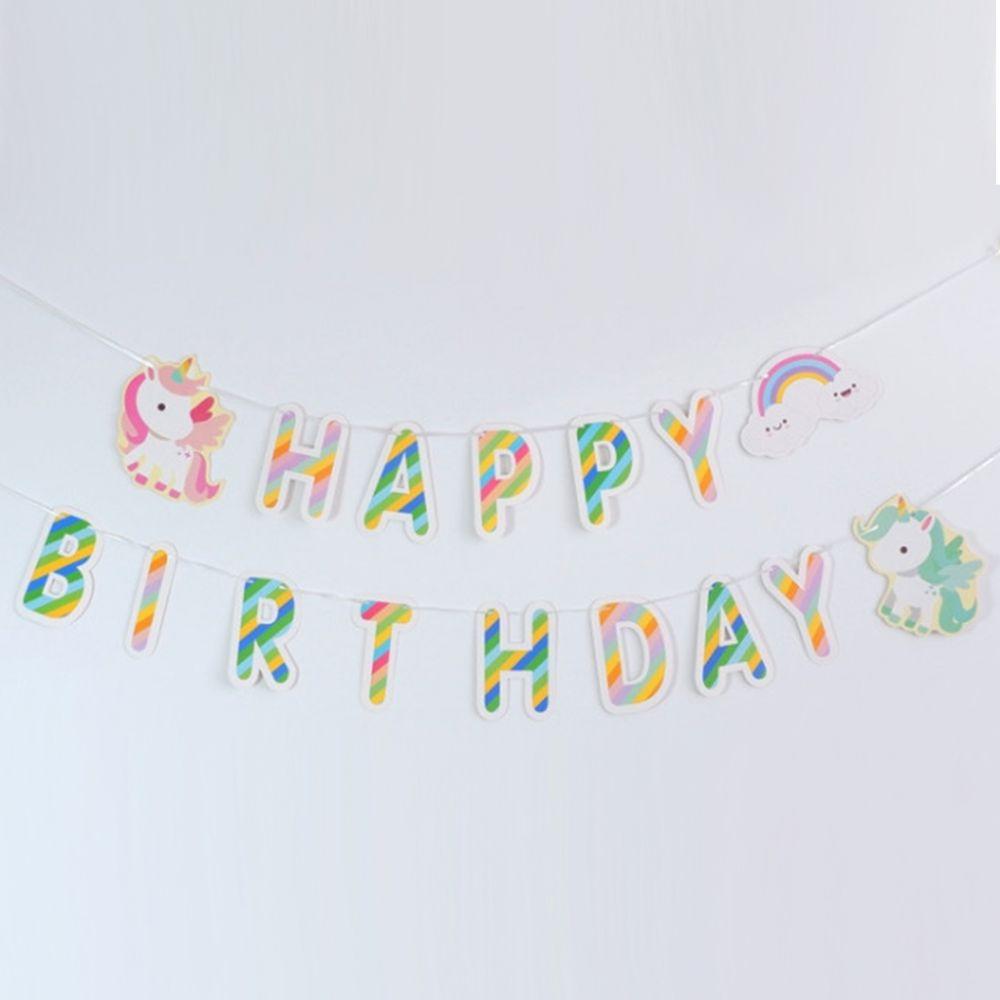 Гирлянда Единорожки Happy Birthday