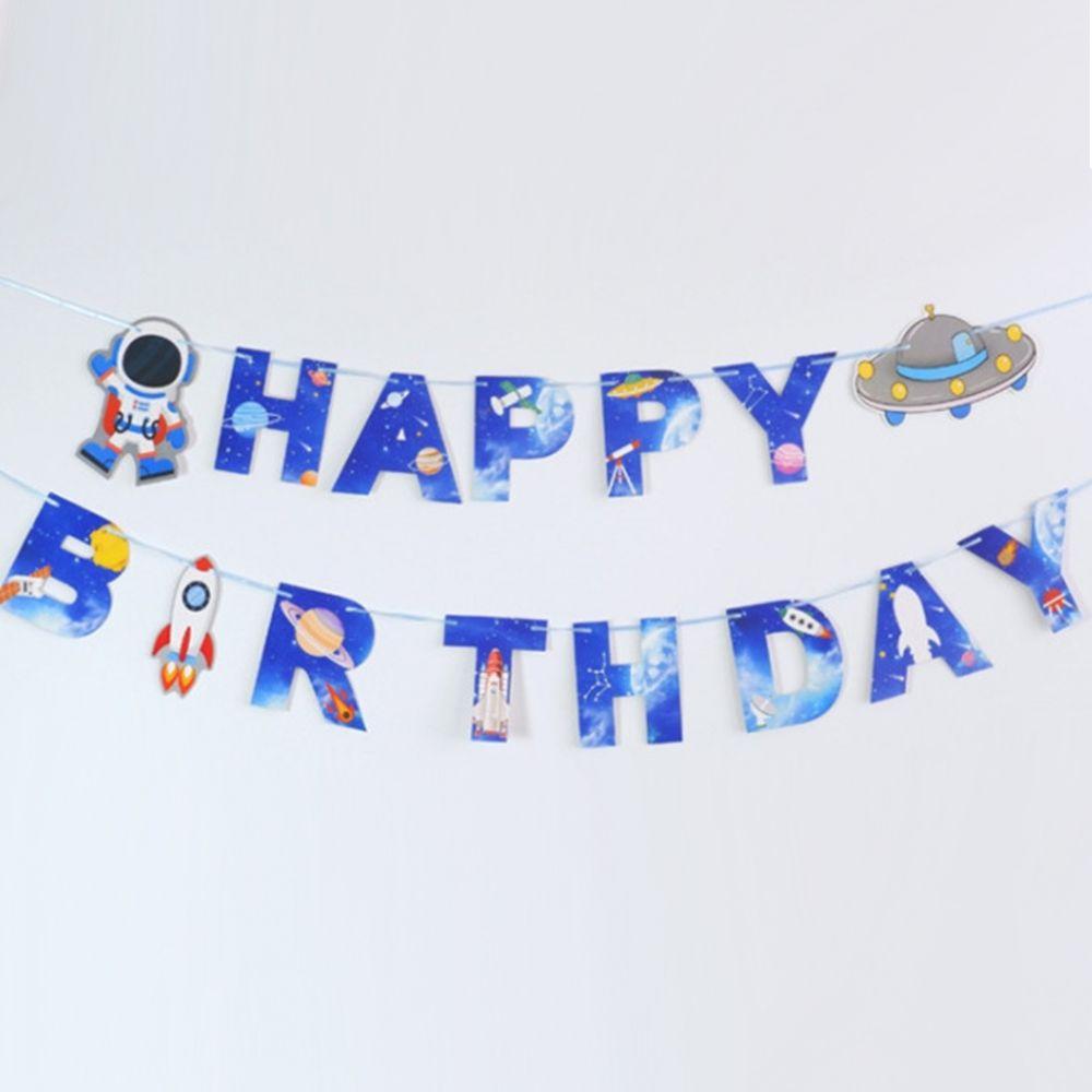 Гирлянда Happy Birthday Летающая тарелка