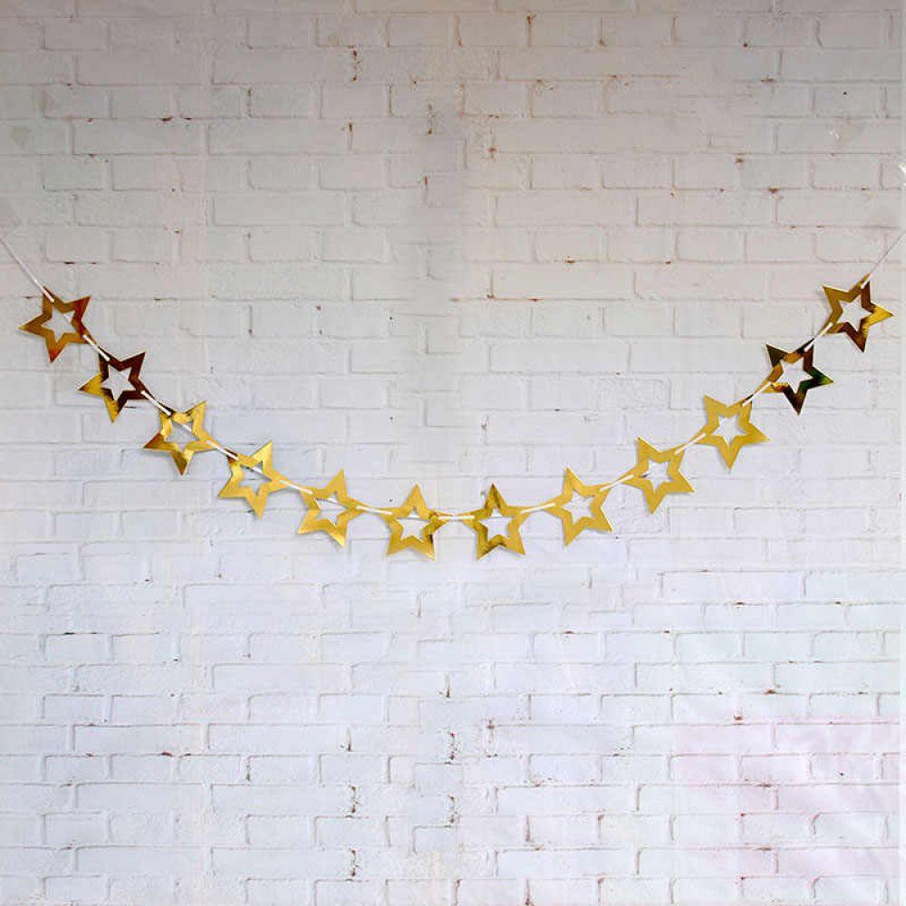 Гирлянда Звёзды золотые