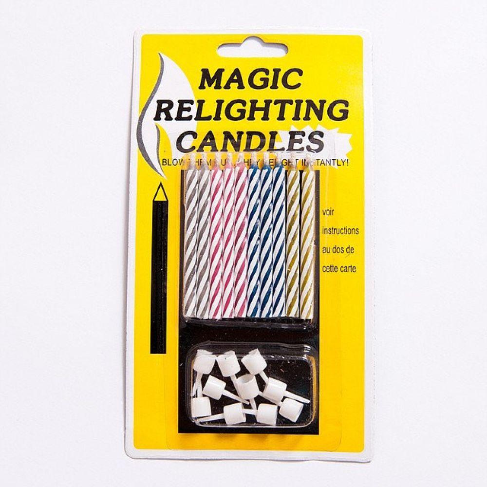 Свечи в торт Магические (незадуваемые)