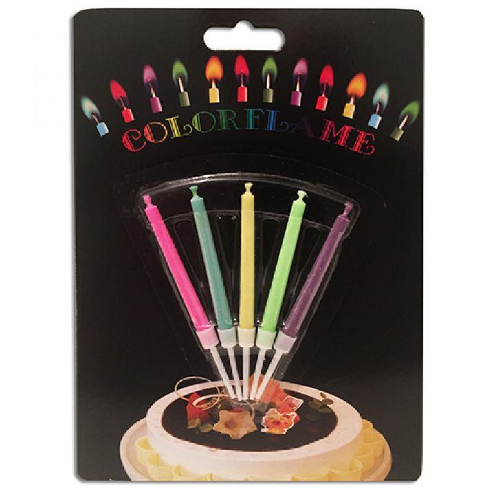 Свечи в торт разноцветные огни