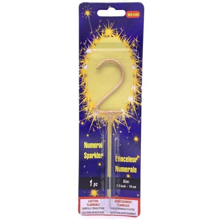 Бенгальская свеча 2 золотая