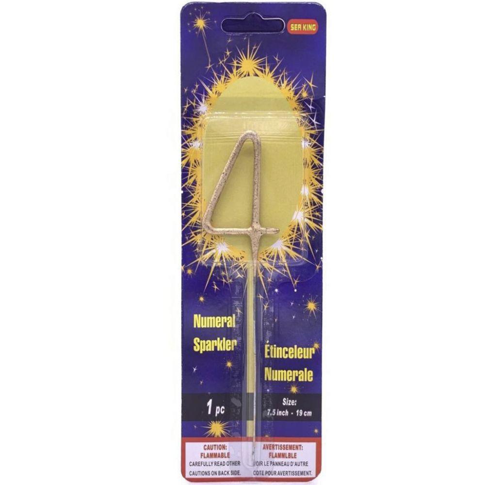 Бенгальская свеча 4 золотая