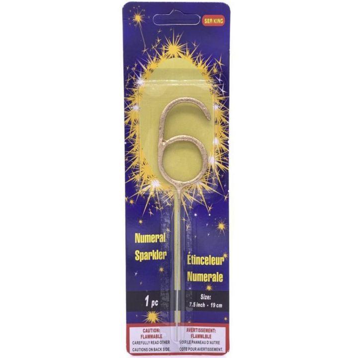 Бенгальская свеча 6 золотая