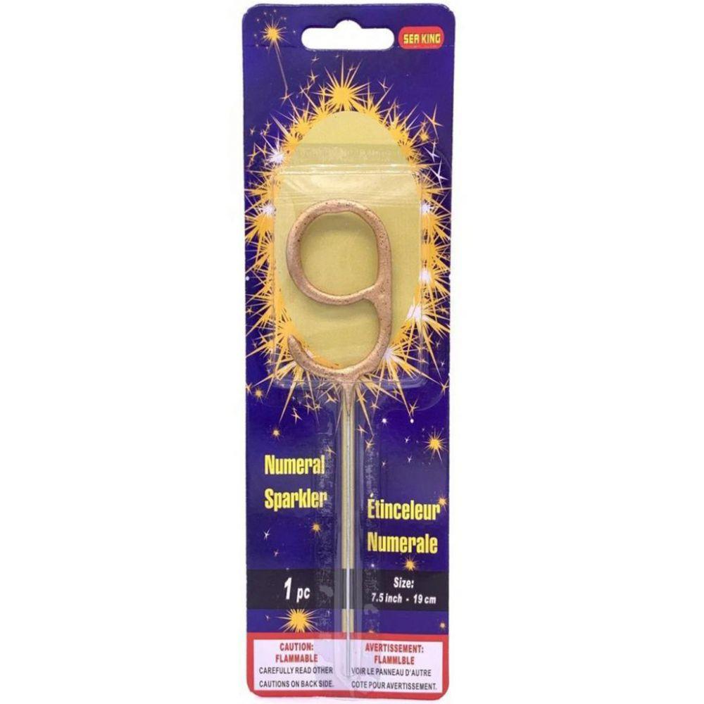 Бенгальская свеча 9 золотая