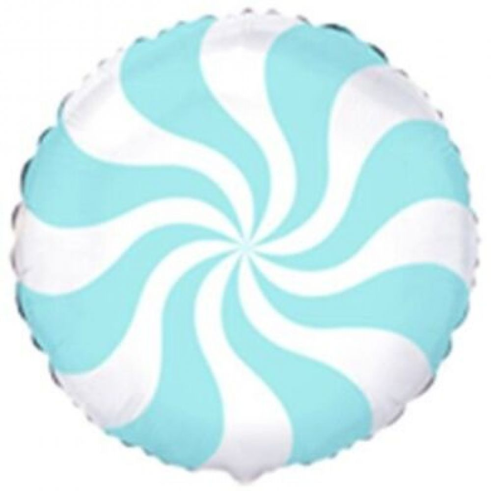 Круг конфетка голубая
