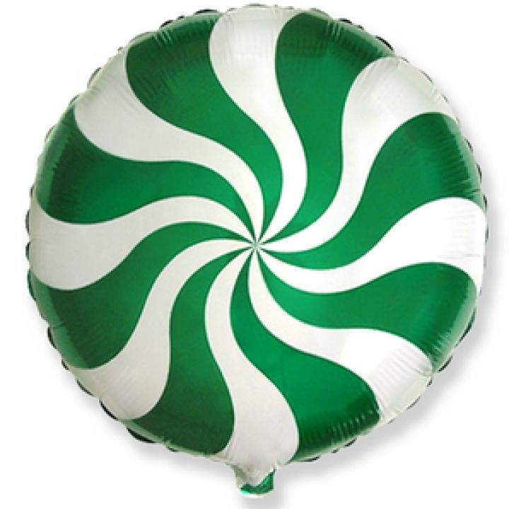 Круг конфетка зеленая