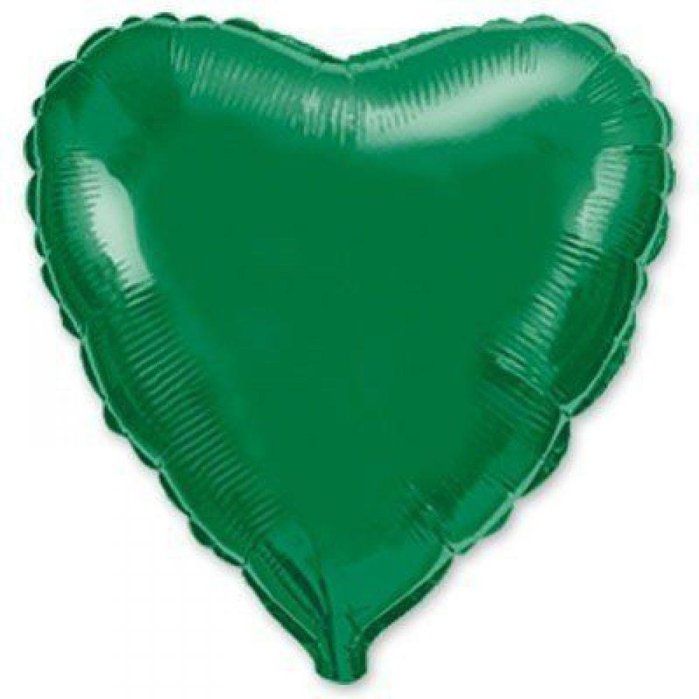 Сердце металлик зелёное