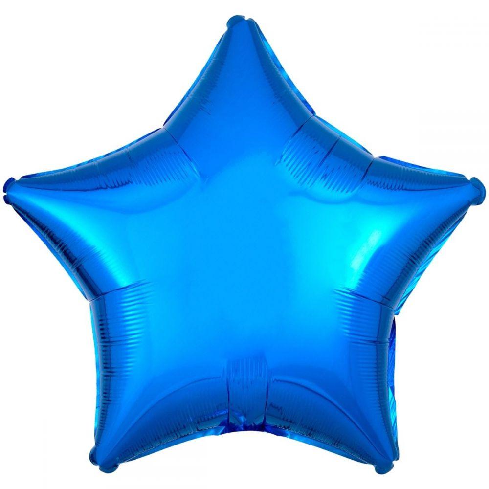 Звезда металлик синяя