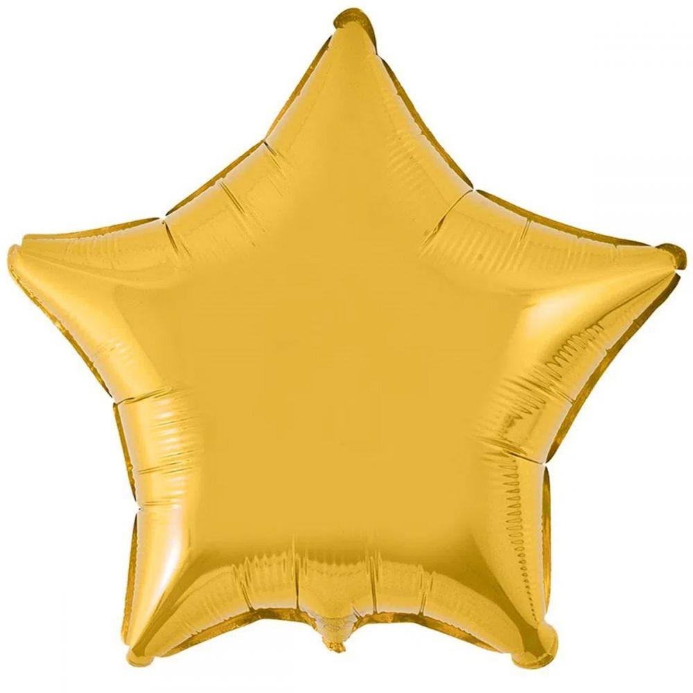 Звезда металлик золотая