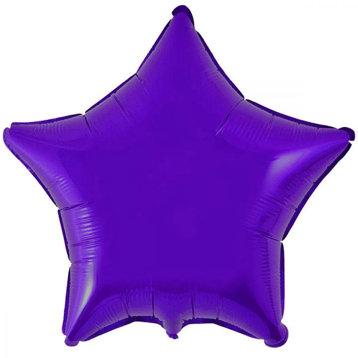Звезда металлик фиолетовая