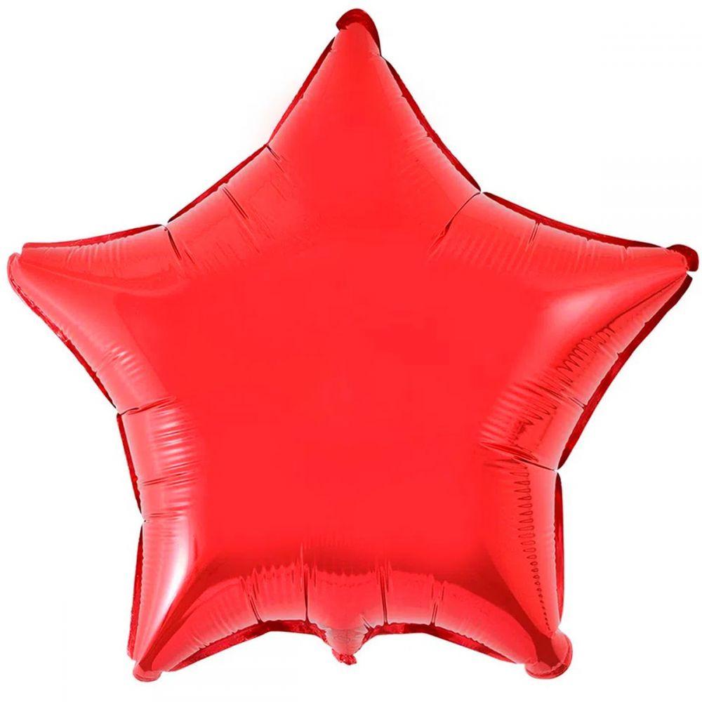Звезда металлик красная