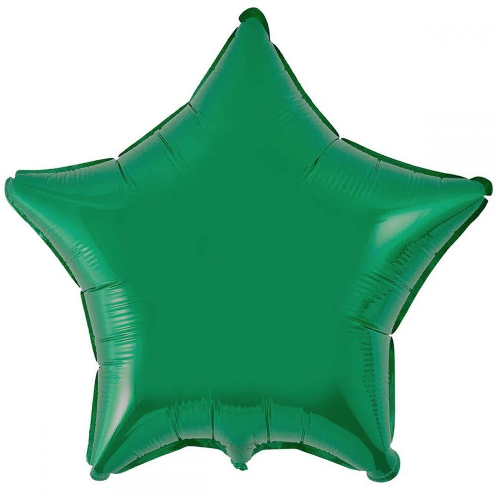 Звезда металлик зелёная