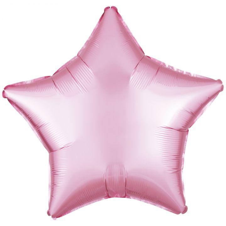Звезда пастель розовая
