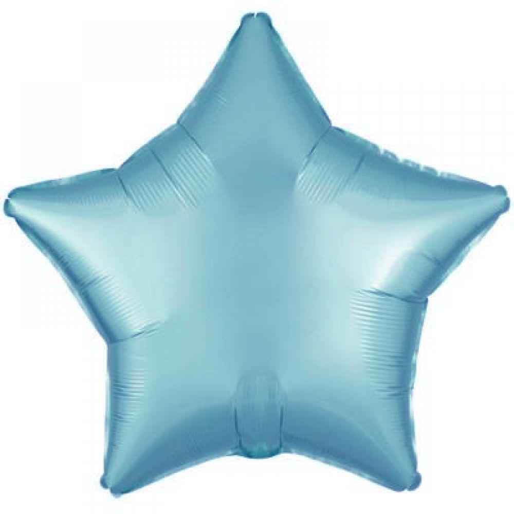 Звезда сатин пастель голубая